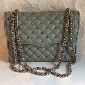 REBECCA MINKOFF BLUE QUILTED BAG